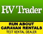 RUN ABOUT CARAVAN RENTALS Logo