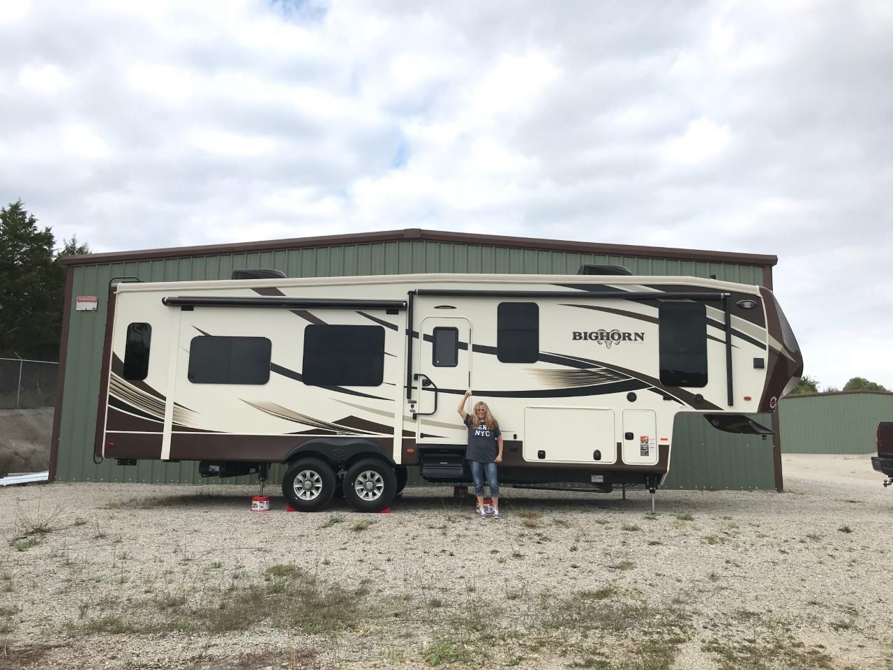 RV Toy Hauler Trailer Motor Home Coach 5TH Wheel Off Road Camper Iron Cross Flag