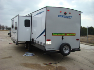 2021 Gulf Stream Conquest - Large Slideout - Bunk Beds - Fire place-0